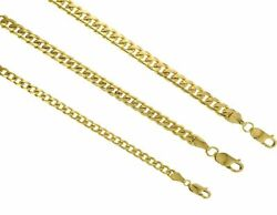 14k Solid Gold Miami Cuban Link Chain Necklace 4mm-6mm Size 7-30 Inches