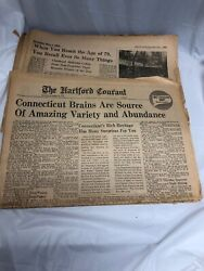 Hartford Courant Times Incomplete Newspapers Sections 1964 And 1968 Connecticut