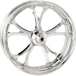 P.m. Front Forged Wheel Dual Disc 21x3.5 Chrome Luxe 14-15 Harley Fl W/abs