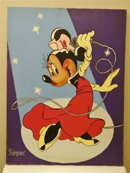 Vintage Minnie Mouse Painting On Canvas 18