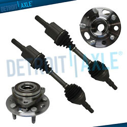 Front Left And Right Cv Axle Shafts + Wheel Hub Bearings For Chevy Impala Malibu