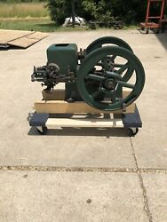 Small Early Nelson Brothers 1 1/2 Hp Hit Miss Gas Engine Runs