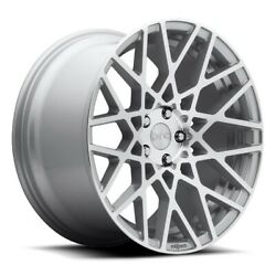 19x8.5 Et38 Rotiform R110 Blq 5x114.3 Silver And Machined Rims Set Of 4