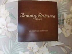 New Tommy Bahama Julie Cay Tropical Yellow Orchid 3 Piece Queen Comforter Set