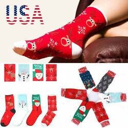 Lovely Christmas Socks Women Men Gift Santa Claus Deer Warm Winter Xm