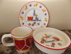 New Mason's And Company Toys Soldier 3 Piece Childrens Cup Bowl Plate