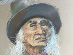 Cowboy Or Indian Scout Portrait Original Art By Robert Trau The American West