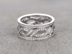 Christmas 3.21ctw Natural Round Diamond 14k Solid White Gold Band Ring In Size 7