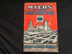 Vintage 1928 Myers Self-oiling Electric House Pumps Direct Water Systems Catalog