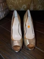 Boutique 9 Size 10 SEXY Gold Leather 7