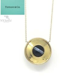 Nyjewel And Co Paloma Picasso 18k Gold Silver Magic Agate Pendant Necklace