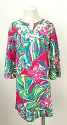 Lilly Pulitzer Girls Shel Tunic Dress Pomegranate Jungle Tumble Size L(8-10)