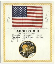 Apollo 13 US Flag Space Flown from Jack Swigert Estate