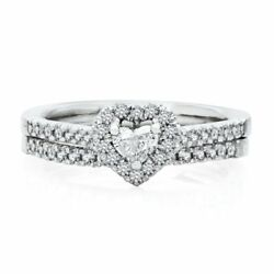 5/8 Ct Natural Diamond Halo Engagement Ring Set In 14k Yellow Gold