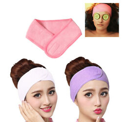 3pcs Adjustable Fabric Makeup Hairband Salon Facial Spa Headband Shower Bath
