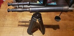 Wwii Wwi Possible Japanese Or German Telescope With Stand Collectible Antique