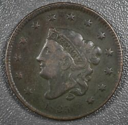 1835 Liberty Head Matron Large Cent Small 8 And Stars - U.s. Copper Cent