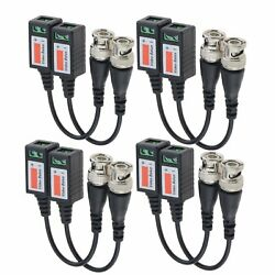 20-200pcs Camera Passive Transceiver Video Balun Twisted Bnc Connector Cable Lot