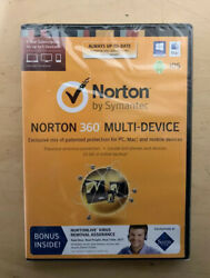 Norton Security Deluxe Multi Device 5 Pc Mac Android Ios 1 Year New Sealed