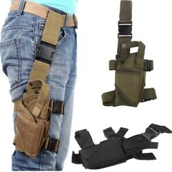 Army Airsoft Pistol Drop Leg Thigh Holster Tactical Pouch Fits Right Leg LE