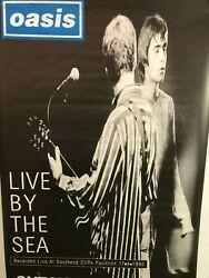 Huge Subway Poster Oasis Live By The Sea Promotional 1995 Liam, Noel Gallagher
