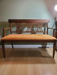 Antique bench brown great shape
