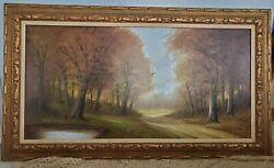 Antique Signed Oil On Canvas Painting
