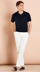 Brooks Brothers Garment-dyed Cotton-linen Stretch Chinos 34x32