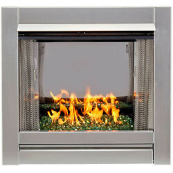 Bluegrass Living Bl450ss-g-rem Vent Free Stainless Outdoor Gas Fireplace Insert