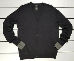 New Diesel Menand039s Sweater Size Xxl K-idol Jersey Gray Cardigan Christmas Holiday