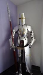 Full Suit Of Armor W/shield Collectible Plate Armor Medieval Larp Halloween Gift