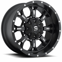 4 20x9 Fuel Black And Mill Krank Wheels 5x139.7 And 5x150 For Ford Jeep Toyota Gm