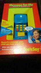 Mattel 11723 Message - For - Me See And039n Say Electronic Recording Phone. Vintage