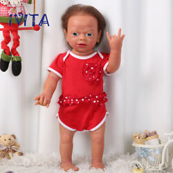 Ivita 22'' Silicone Reborn Girl Dolls Cute Rootted Hair Baby With Skeleton 5000g