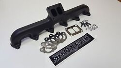 Steed Speed T4 Angled Manifold With Wastegate For 94-98 Dodge Ram 5.9l Cummins