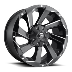 4 20x9 Fuel Black And Milled Razor Wheel 5x139.7 And 5x150 For Ford Jeep Toyota Gm