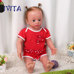 Reborn Doll 22 Newborn Silicone Root Hair Baby Girl With Skeleton Toy Xmas Gift