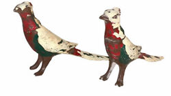 Vintage Painted Pheasant Bird Silver Plate Salt And Pepper Shakers