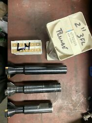 3 2 Seco Plunge Cutters R217,79-02,00-3-16 With 47 Apft/apkt Inserts.