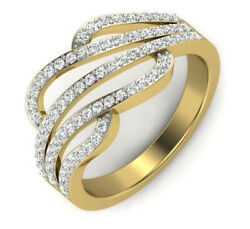 1.21ct Natural Round Diamond 14k Solid Yellow Gold Cluster Ring In Size 7 To 9