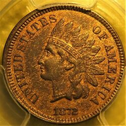 Uncirculated 1872 Indian Head Cent. Pcgs Graded