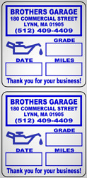 Custom Oil Change Reminder Stickers W Removable Premium Synthetic Stock 2x 2