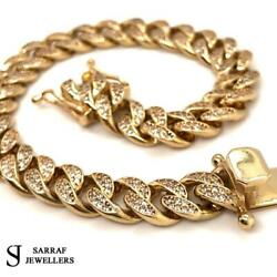 Cuban Curb 375 9ct Yellow Gold Bracelet Genuine Style 10mm 8 36.4gr Brand New