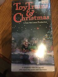 Toy Trains And Christmas Vhs Video Tape Lionel Dept 56 American Flyer Mccomas New