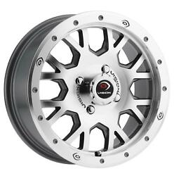 15x6 Vision Gv8 Invader 4x110 Et38 Machined Face Machined Ring Wheels Set