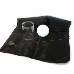 Miracle Floating Ball Metal Zombie Gimmick Black Foulard Glass Stage Magic Trick