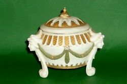 Old Schwarza Saalbahn Can Art Nouveau Art Deco Nouveau Covered Dish Candy Box