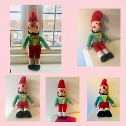 """Rarevintage Mr Punch And Judy Puppet Toy Hand Made  Mr Punch 15"""" Doll Soft Toy"""