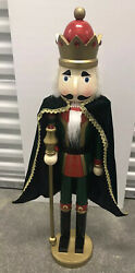 Wooden Nutcracker 36 Inches Christmas Decor - Pre-owned