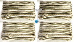 4 Gold/white Double Braided 1/2 X 25' Hq Boat Marine Dock Lines Mooring Ropes